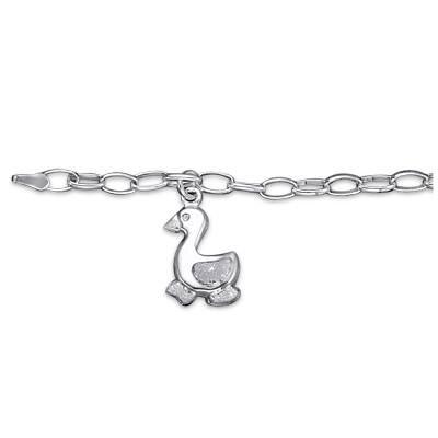Sterling Silver Duck Kids Bracelet.Gift Box Included