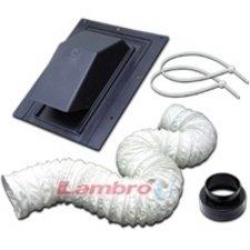 """Lambro 402L Flexible Roof Vent Kit, 4"""" X 8' front-401329"""