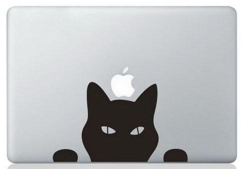 MacBook ステッカー シール Black Cat [並行輸入品] (11インチ)