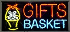 Gifts Basket Neon Sign 13 x 30