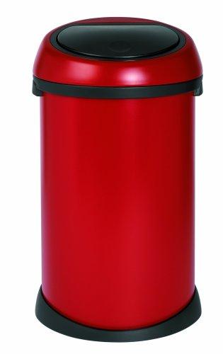 Brabantia Touch Bin, 50 Litre, Deep Red