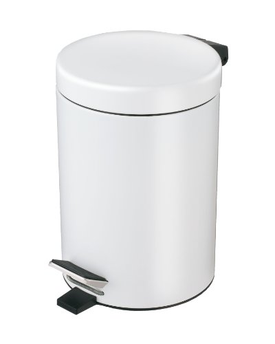 Exclusive Stainless Steel Cosmetic Pedal Bin - White 3 l