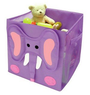 """Kid Style Critter Cube, Elephant, 12"""" X 12"""" X 12"""" front-823528"""