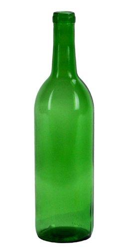 750 ml emerald green claret bordeaux bottles 12 per case for Green wine bottles