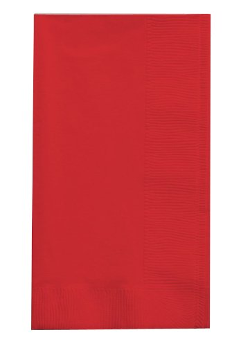 Creative Converting Touch of Color 2-Ply 50 Count Paper Dinner Napkins, Classic Red