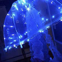 SOLARMKS Solar String Lights 8 Modes Outdoor String Lights 150 LED Fairy Lights Waterproof Blue Starry Copper Wired Lights for Garden Patio Lawn Weddi