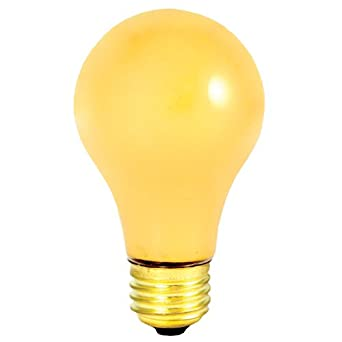60w Long Life Standard Incandescent Bug Light In Yellow Set Of 6 Incandescent Bulbs