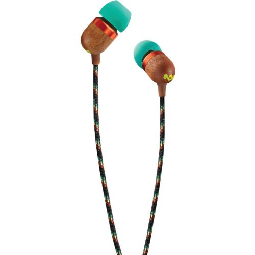 House Of Marley Em-Je003-Ra Smile Jamaica Rasta In-Ear Headphones With Apple Three-Button Controller