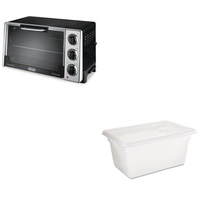 Kitdloro2058Rcp3504Whi - Value Kit - Rubbermaid Food/Tote Boxes (Rcp3504Whi) And Delonghi Convection Oven W/Rotisserie (Dloro2058)