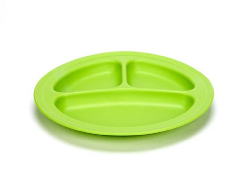 Baby / Child Colorful Green Eats 2 Pack 100% Food-Safe Recycled Plastic Milk Containers Divided Plates - Green Infant