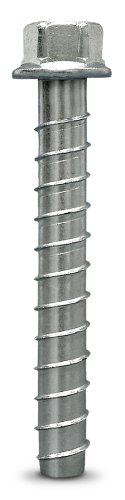 Simpson Strong Tie THD62612H 5/8-Inch by 6-1/2-Inch Titen HD Zinc Plated Heavy Duty Screw Anchor for Concrete/Masonry, 10 per Pack
