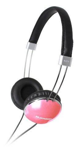 Zumreed Zhp-300 Slim Wire Headband Stereo Headphones, Pink