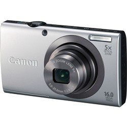 Canon PowerShot A2300 IS 16.0 MP Digital Camera with 5x Optizal Image Stabilized Zoom 28mm Wide-Angle Lens with 720p HD Video Recording (Silver)