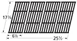 Music City Metals 66024 Gloss Cast Iron Cooking Grid Replacement for Select Gas Grill Models by Broil-Mate, Huntington and Others, Set of 4