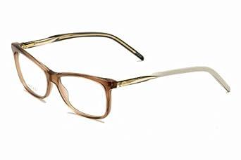 White Gucci Eyeglass Frames : Gucci 3643 Gg Logo Brown / White / Beige Frame Plastic ...
