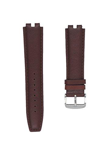 cuir-veritable-bande-de-montre-bracelet-pour-pebble-steel-marron-fonce