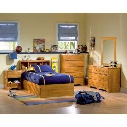 Cheap Kids Bedroom Furniture Set in Country Pine – South Shore Furniture – 3432-BSET-1 (3432-BSET-1)