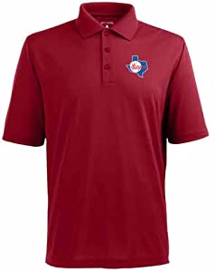 Texas Rangers Pique Xtra Lite Polo Shirt (Cooperstown) by Antigua