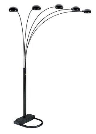 buy hpp inc 6962bk 5 arm arch floor lamp black at affordable total. Black Bedroom Furniture Sets. Home Design Ideas