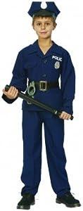 Déguisement policier luxe garçon - 4 à 6 ans