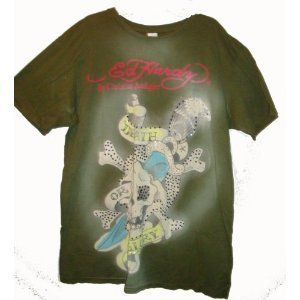 Men's Ed Hardy by Christian Audigier T-Shirt Death or Glory Available in Several Sizes (XXL)