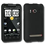 Unwired Accessories Rubberized Snap on Crystal Hard Case for HTC EVO 4G (Black) (NOT SHIFT)