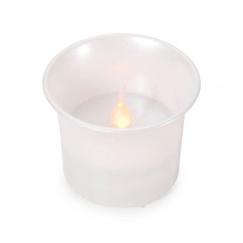 Bulk Buy: Darice Diy Crafts Led Votive Candles Pearl 80 Hour 1.5 X 1.5 Inches (24-Pack) 6203-55