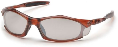 Pyramex Solara Safety Glasses - Indoor/Outdoor Mirror Lens, Trans Orange Frame Sto4380D, 12
