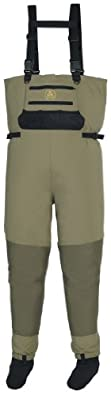 Pro Line® Mens Summit Stocking Foot Breathable Waders Green by Proline