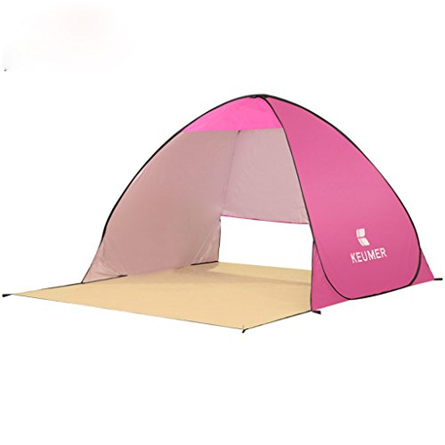 KEUMER Oversized Outdoor Camping Tents with Beach Patio Premium Quality Reinforced Beach Umbrella Automatic Pop Up Instant Portable Outdoors Quick