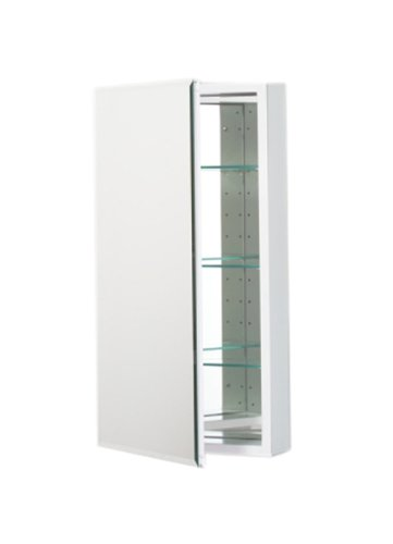 Robern Plm2030Wb Pl Series Flat Beveled Mirrored Door, 19-1/4-Inch W By 30-Inch H By 3-3/4-Inch D, White Interior front-588603