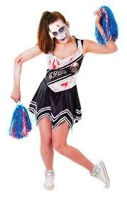 adult-cheerleader-zombie-size-black-and-white-dress-costume-halloween-one-size-12-14-by-Mr-Bens