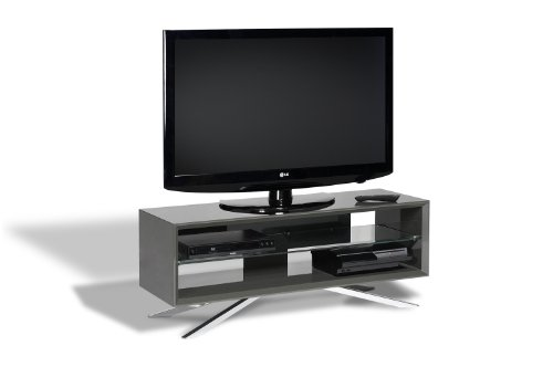 Cheap Techlink Arena TV Stand Grey Gloss Frame Clear Glass (AA110G)
