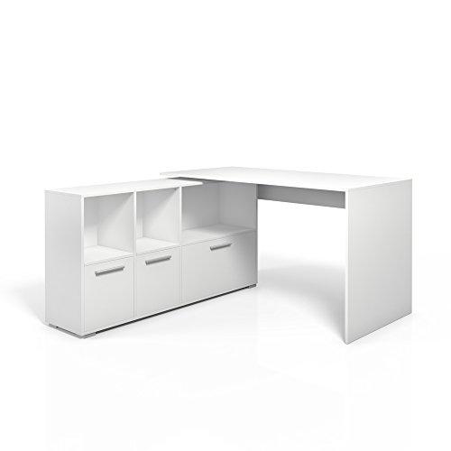Eckschreibtisch-Schreibtisch-Winkelschreibtisch-Computertisch-Brotisch-Wei-oder-Sonoma-Wei