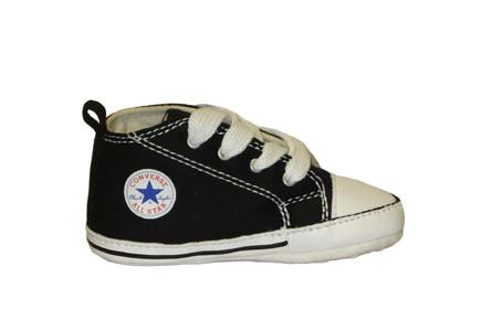 Converse Chuck Taylor First Star Infants Black Soft Sole size 2