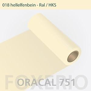 Your Design  Klebefolie - Oracal 751- 63cm Rolle - 10m (Laufmeter) - Hellelfenbein | glanz | Autofolie - Möbelfolie - Selbstklebend , 018-he-751-63cm-10m