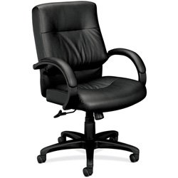 HON HVL692 Executive Mid-Back Chair for Office or Computer Desk, Black
