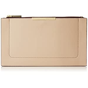 BCBG Double Layer Clutch Envelope Clutch, Nude Combo, One Size