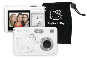 Spectra Hello Kitty KT7015A - Digital camera - compact - 5.0 Mpix / 8 Mpix (interpolated) - supported memory: MMC, SD
