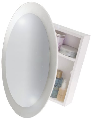 Croydex Saturn 1 Door Mirror Cabinet (FSC MDF), White