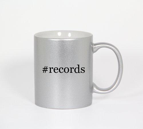 #Records - Funny Hashtag 11Oz Silver Coffee Mug Cup