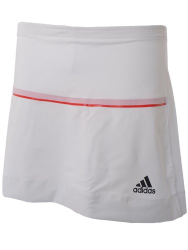 Adidas Womens White Barricade Tennis Skort Skirt - P92717 -