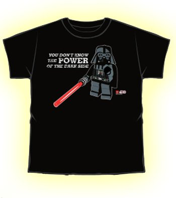 Official T Shirt LEGO STAR WARS Darth Vader POWER XL