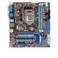 ASUS Desktop Motherboard Intel Chipset Micro ATX Socket H LGA-11568 GB DDR3 SD RAM Ultra ATA/133 (ATA-7) Serial ATA/3007.1 P7H55-M LE