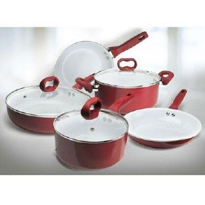 Ecolution Bliss EBREW-1208 Non-Stick Ceramic Cookware Set (8 Piece), 8