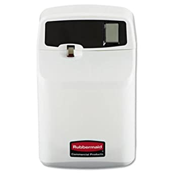 Rubbermaid Commercial FG516900OWHT SeBreeze 9000 Programmable Plus Metered Aerosol Odor Control Dispenser, Off-White