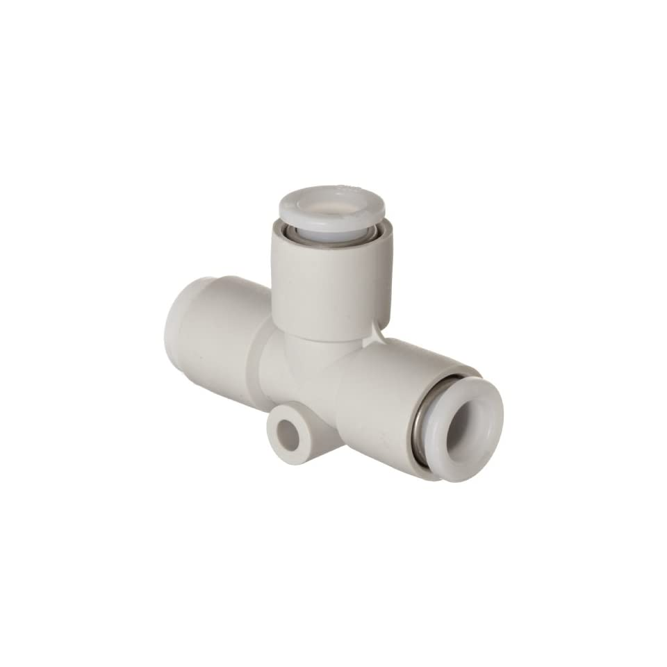 SMC KG Series Stainless Steel 303 Push to Connect Tube Fitting, Union Tee, 6mm Tube OD