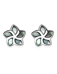 M&S Collection Finest Sterling Silver Floral Stud Earrings