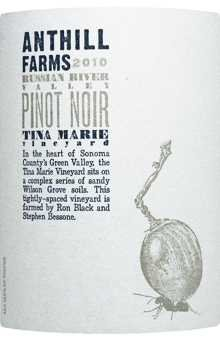 2010 Anthill Farms Pinot Noir Russian River Valley Tina Marie 750Ml