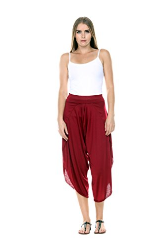Stanzino Fashion & Dance Soft Rayon Harem Pants for Women & Juniors (Parachute Pants With Zippers compare prices)